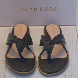 Taryn Rose Black Leather Thong Shoe Women's Sz 8.5